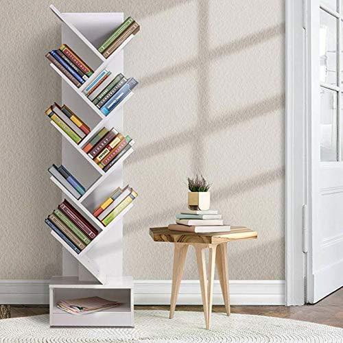 ALIPC Estante de Libros de 9 Niveles, Sala de Estar Moderna y Sencilla, Ahorro de Espacio, Creativo, en Forma de árbol, Gran Capacidad, Tipo de Piso, librero