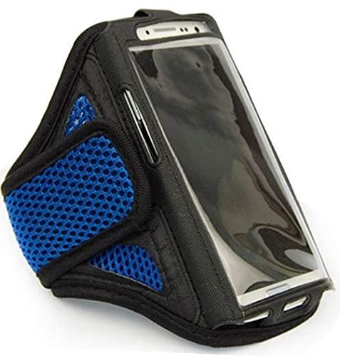 Fitness-Armband Jogging Oberarm passend für Apple iPod Touch 3G 4G 5G 6G Sport Oberarm Joggen Oberarm Tasche Wasserfest Arrow Klein Blau