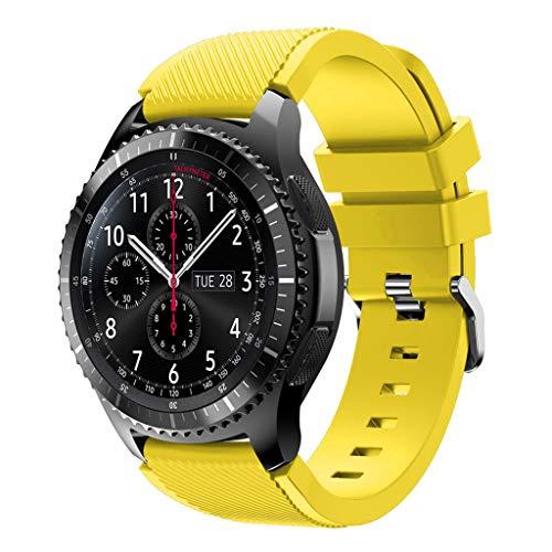 YOKING SAMS-ung Gal-axy 46 Mm/pulsera de sergé cruzado Sam-Sung Gear S3, pulsera para hombre, pulsera para mujer, accesorios para reloj inteligente