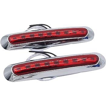 ACAMPTAR 1 PZ 16 Pollici 11 LED Barra Luminosa per Rimorchio Rossa per Sosta Parco Indicatori di Direzione Coda Freno Posteriore IP65 Impermeabile Camion Rimorchio Marcatore Barra ID