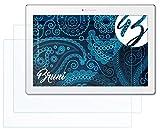 Bruni Película Protectora para Lenovo Tab 2 A10-30 / A10-70 Protector Película, Claro Lámina Protectora (2X)