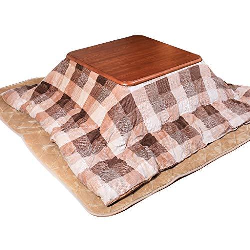 Salón Mesas Muebles Japonés Estufa De Mesa Calentador De Invierno Mesa De Salón Calefacción Habitación Pequeña Mesa Piso A Dormir Mesa De Café (Color : Khaki, Size : 80 * 80 * 41cm)