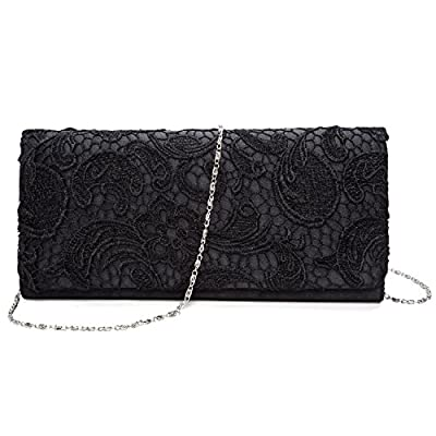 Baglamor Girl's Floral handbag Evening bag Clutch Purse Wedding Handbag Chain Chain Bag