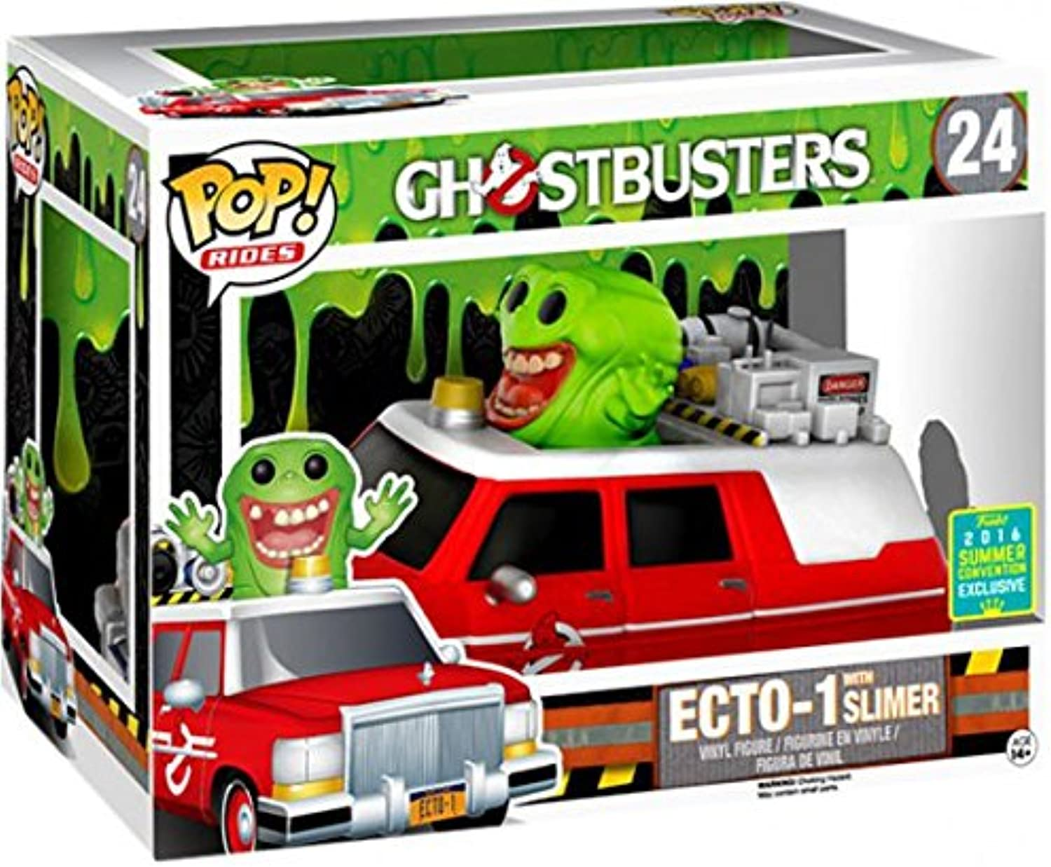 Funko Ghostbusters Funko POP  Movies ECTO1 with Slimer Exclusive Vinyl Figure Set