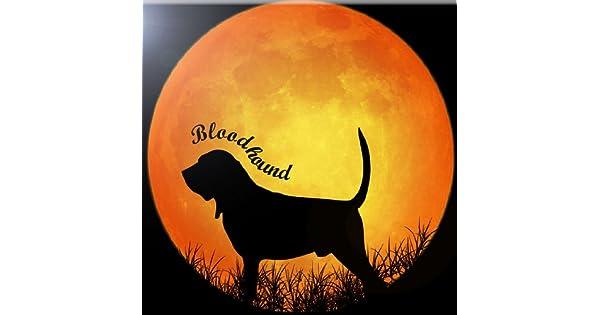 Rikki Knight 12 x 12 Bloodhound Dog Silhouette by Moon Design Ceramic Art Tile