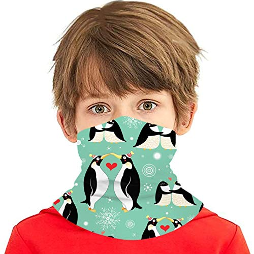 hdyefe Textura Gay Pingüinos Cuello Polaina Bandana Chica Niño Seguridad Cabeza Cubierta