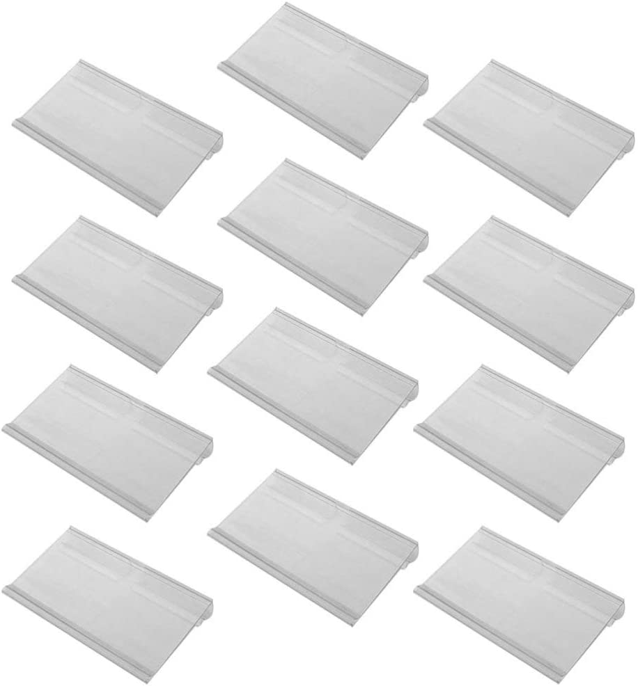 Toddmomy Max 69% OFF Austin Mall 60 Pieces Clear Plastic Holder Retail Shelf Label Wire