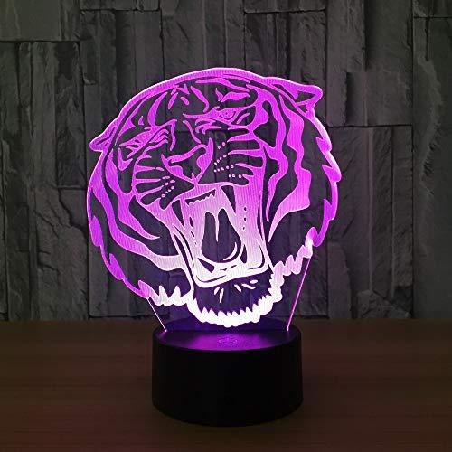 Nachtlicht Tiger mit Einer Farbe von Hauptdekoration beleuchtet ehrfürchtige Geschenke der unglaublichen Sichtillusionskinder der Anzeige