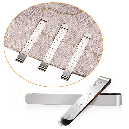 Sewing Clips Set of 20 Stainless Steel Hemming Clips 3 Inches Measurement Ruler Quilting Supplies for Wonder Clips Pinning Marking Accessories and Clips Marking Sewing Project Qu