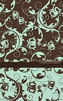 Diary Password Keeper: A Password Journal Organizer (blue & brown floral) Book