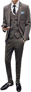 [CEEN] スリーピース メンズ スーツ 無地 1つ釦 おしゃれ スリム ビジネス