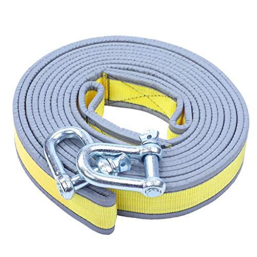 LJFYMX Cuerda de Remolque Cuerda de Remolque, Cuerda de Remolque Correa reciclable, de Emergencia del Remolque Fuera de la Carretera 5 m 10 t Eslinga 4x4 (Size : 5M)