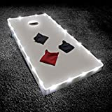 Brightz TossBrightz LED Cornhole Lights for Board and Hole, White - 2 String Set for Corn Hole, Bean Bag or Toss Board Games - Heavy Duty Weatherproof Tubing - Diamond-Bright LEDs