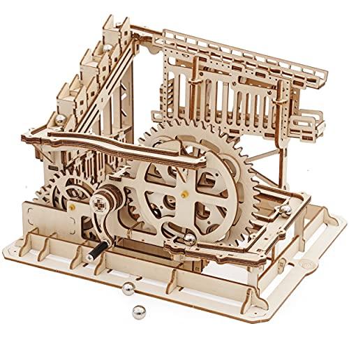 Robotime Murmelbahn Holz 3D Puzzle Erwachsene Modellbau Kugelbahn Perpetuum Mobile Gadgets für Männe
