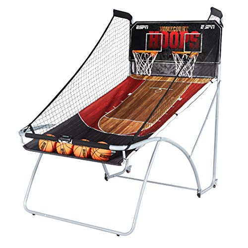 ESPN EZ Fold Indoor Basketball Game for 2 Players with LED Scoring and Arcade Sounds (6-Piece...