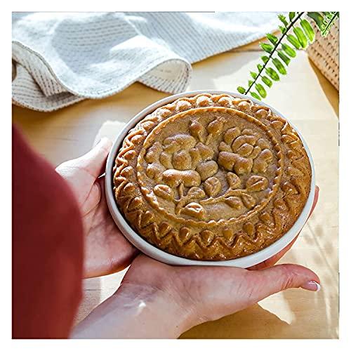 Moldes de galletas para hornear, cortador de molde de galletas de madera, molde de galletas de pan de jengibre, molde de galletas de flores de rosa, cortador de galletas para cocina de cocina y estamp