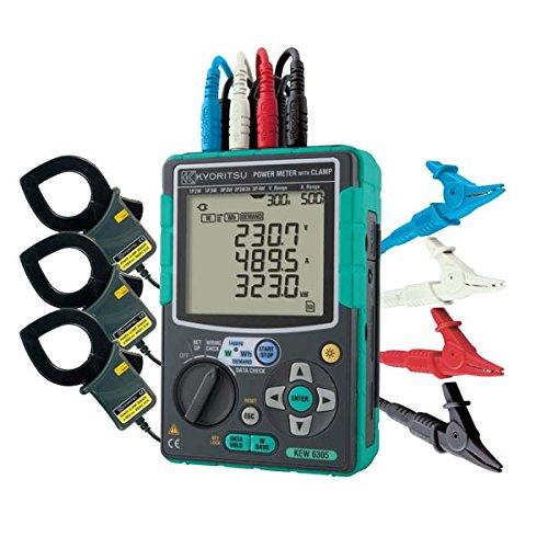 共立電気計器 コンパクトパワーメータ 6305-01(500Aセンサ×3)