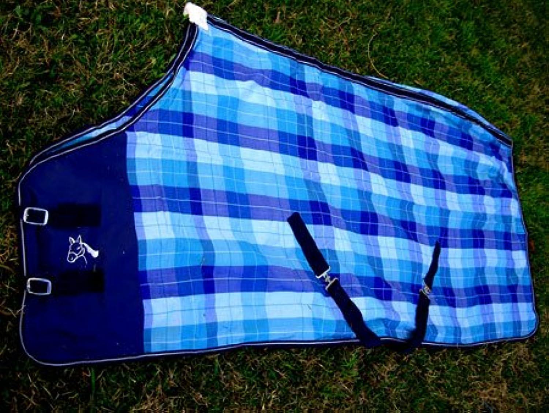 CHALLENGER Horse Cotton Sheet Blanket Rug Summer Spring bluee 5304