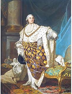 Duplessis Portrait du roi Louis XVI France Peinture Art Impression sur toile de qualité supérieure Décoration murale