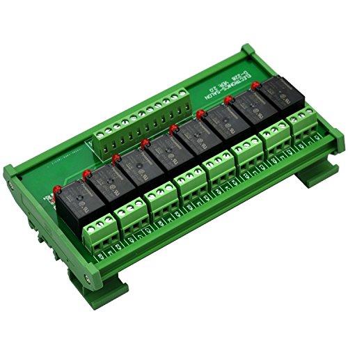 ELECTRONICS-SALON montaje en carril DIN 8 SPDT Relé de