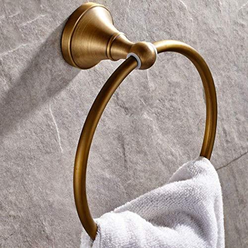 xy Kupfer Retro Hand-Zeichnung hängende Handtuchhalter Home Produkte Wand-Toilette Handtuch Handtuch Ring Küche und Handtuchhalter Hardware-Zubehör Kreisförmige Handtuch Ring Rack