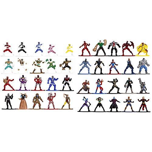 "Jada Toys Nano METALFIGS Power Rangers 20-Pack, 1.65"" Die-Cast Collectible Figures 30771 & Nano METALFIGS Marvel 20-Pack Wave 3, 1.65"" Die-Cast Collectible Figures 30795"