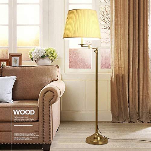 GYW-YW Suelo de uplighter De pie luminarias simple Hierro retro Lámpara de pie, de pie luminarias for sala de estar y dormitorio del bulbo cama Incluida