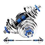 MISLD - Mancuerna para hombre con mancuernas variables, para el hogar, gimnasio, fitness, brazo, pesas de mano, barras de entrenamiento de fuerza, 30 kg (tamaño: 40 kg)