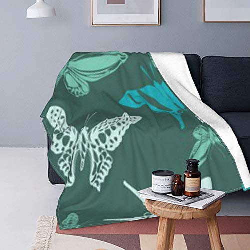 DUTRIX Bonita manta de microforro polar ultrasuave de 150 x 125 cm.