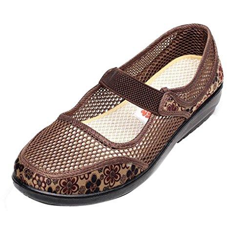 Zapatillas para Mujer Otoño PAOLIAN Calzado de Dama Planos Merceditas Zapatos Escolares con Rejilla Suela Blanda Espadrilles Cómodos Senderismo Moda Breathable Calzado de Trabajo