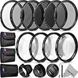 58MM Complete Lens Filter Accessory Kit (UV, CPL,...