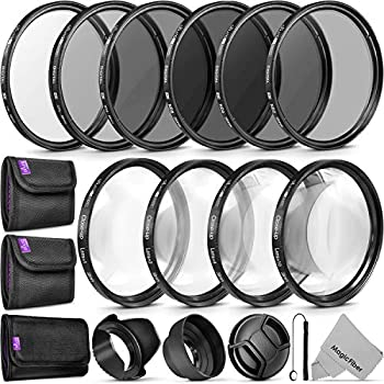58MM Complete Lens Filter Accessory Kit  UV CPL ND4 ND2 ND4 ND8 and Macro Lens Set  for Canon EOS 70D 77D 80D 90D Rebel T8i T7 T7i T6i T6s T6 SL2 SL3 DSLR Cameras
