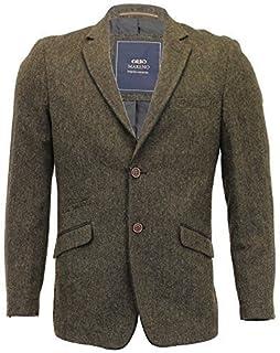 MARENO Mens Wool Mix 3 Piece Suits Blazer Trouser Waistcoat Party Formal Jacket