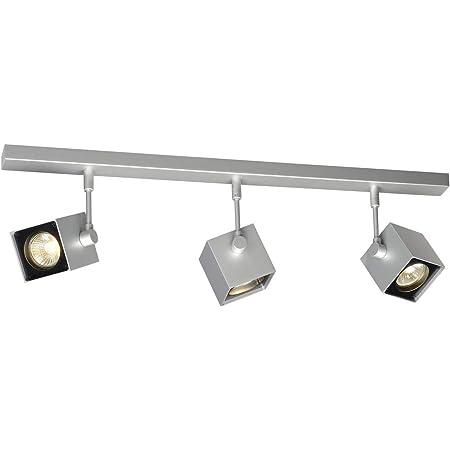SLV Spot LED ALTRA DICEOrientable et Inclinable | applique et Plafonnier Variable pour Eclairage Intérieur, Spot LED | Projecteur de Plafond, Lampes de Plafond, Lampe Murale | 3 Lampes, GU10, E-A++
