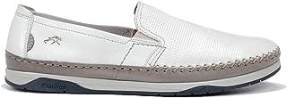 Fluchos | Zapato de Hombre | Kendal F0814 Habana Hielo | Zapato de Piel | Cierre con Elásticos | Piso de Goma