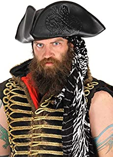 elope Octopus Pirate Costume Hat, Black, for Adults