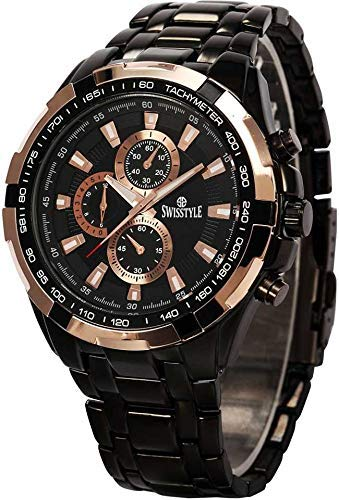 Swisstyle Anolog Black Dial Men's Stylish Watches