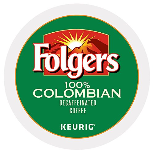 Folgers 100 percent Colombian Decaf single serve K-cup pods for Keurig brewers,120 Count