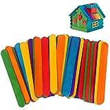 300PCS Palitos de madera,Popsicle,Palitos De Madera Manualidades,Palitos De Madera Helado,palos de helados de madera (Multicolor)