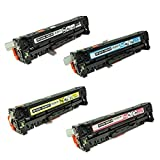TonerBoss Remanufactured Toner Cartridge Replacement for HP 305A ( Black,Cyan,Magenta,Yellow , 4-Pack )