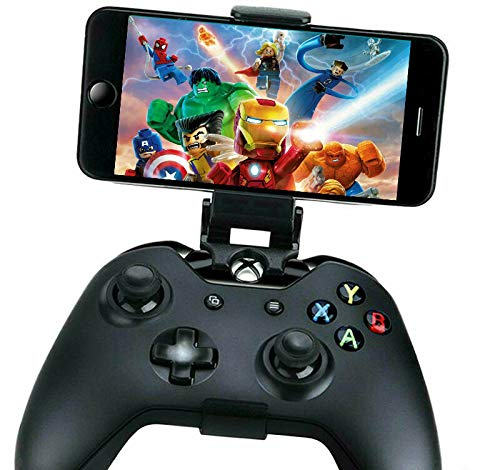 Mobile Gaming Clip For Xbox One Controller Phone Mount Support Clip, Adjustable Mobile Phone Gaming Holder Mount Clip for Xbox One Controllers & Steel Series Nimbus & XL Wireless Gaming Controller