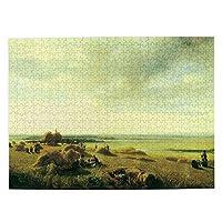 森の小屋 絵 ジグソーパズル500枚 木のパズル 趣味パズル 減圧パズル 親子パズル 装飾画 壁画