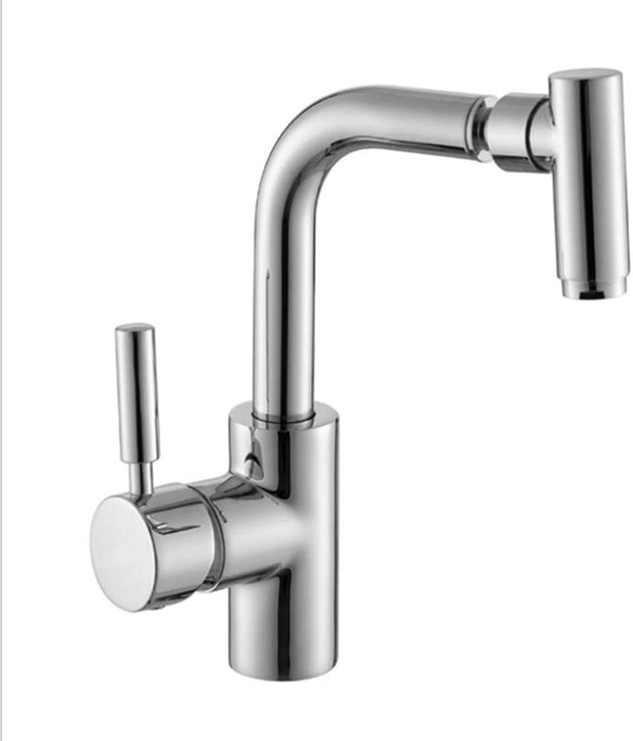 Bathroom Sink Basin Lever Mixer Tap Copper Kitchen Faucet Cold and Hot Basin Faucet Double Control Vegetable Wash Basin Faucet Sink Faucet 360 Degrees