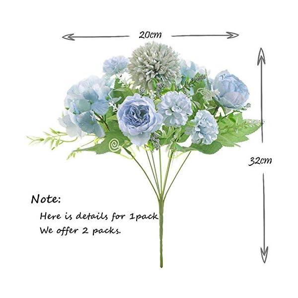 SODIAL Flores Artificiales, PeoníA Falsa, Hortensia de Seda, DecoracióN de Ramo, Claveles de PláStico, Arreglos Florales…
