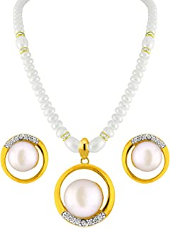 Sri Jagdamba Pearls Marvelous Pearl Pendant Set for Women