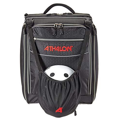 ATHALON Unisex-Erwachsene Onboard Boot Bag Skischuhtasche, schwarz/Silber, One Size