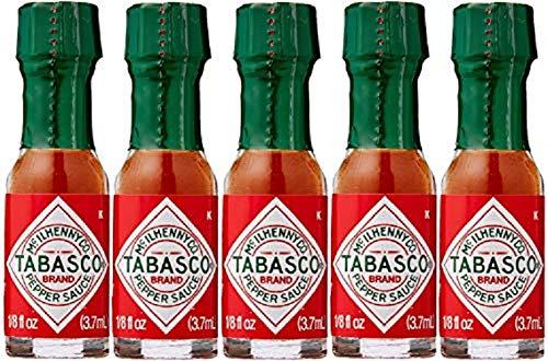 5x Miniatur 3,7ml Tabasco Pepper Sauce,, Die Packungen, Survival-Kits, Bushcraft-Kits, Kochen