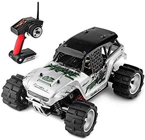 Silver Remote Control Car 1/18 Scale 50km / h High Speed RC Racing Vehicle 4x4 Big Foot RC Off Road Truck fessional 2.4G Radio Control 4WD Auto Toy con batería Recargable (Tamaño: 4 baterías)