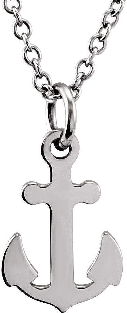 Tiny Posh Petite Anchor Charm Pendant Chain Necklace Adjustable 16