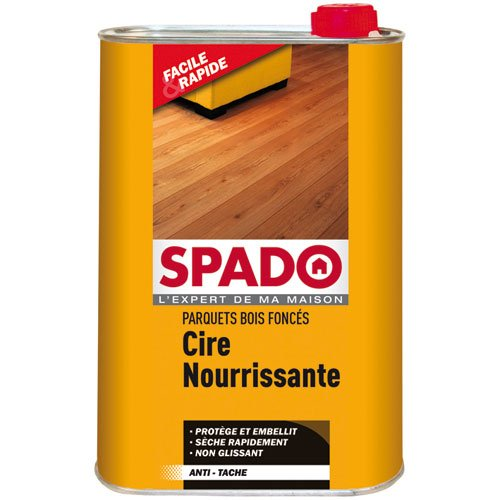 SPADO Cire Parquet Liquide Chêne foncé 1L
